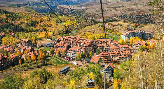 Autumn in Telluride Colorado - Gondola Rocky Mountains
