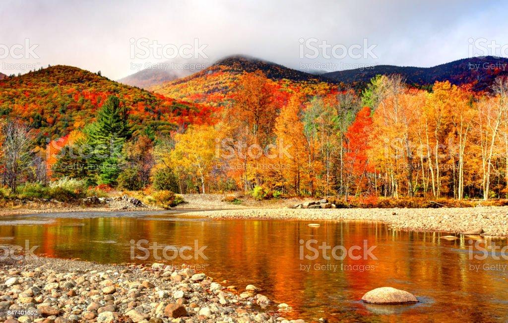 Autumn in the Adirondacks stock photo