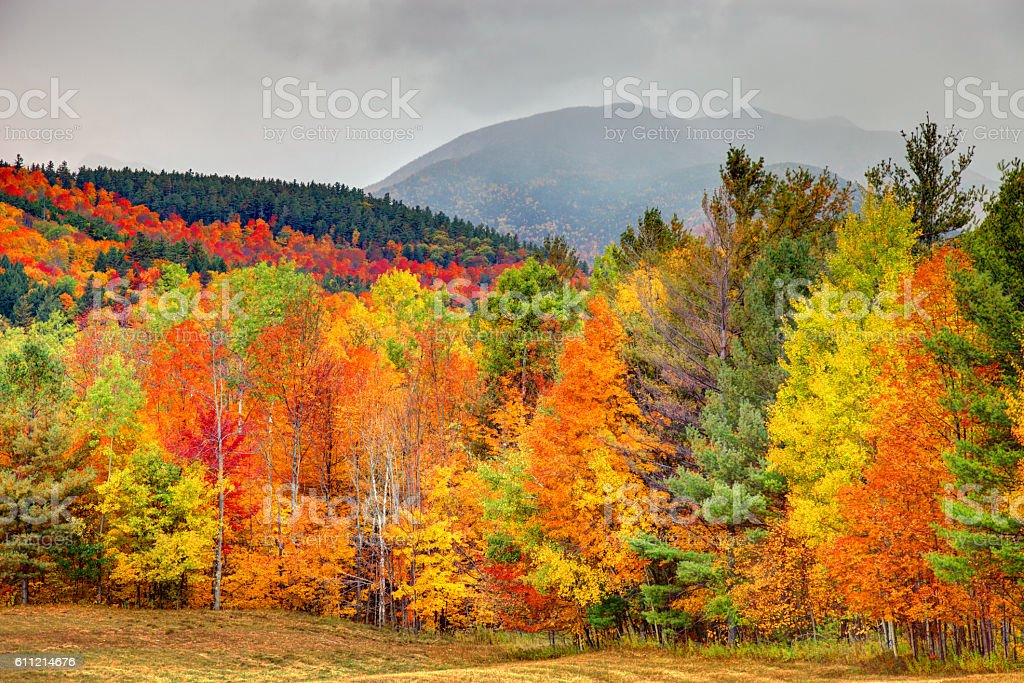 Autumn in the Adirondacks region of New York stock photo