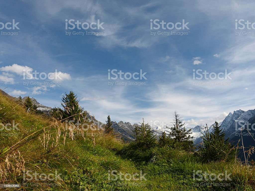 Autumn in the Alps of Austria stock photo