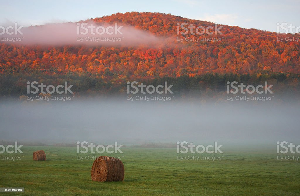Autumn in the Berkshire Hills stock photo