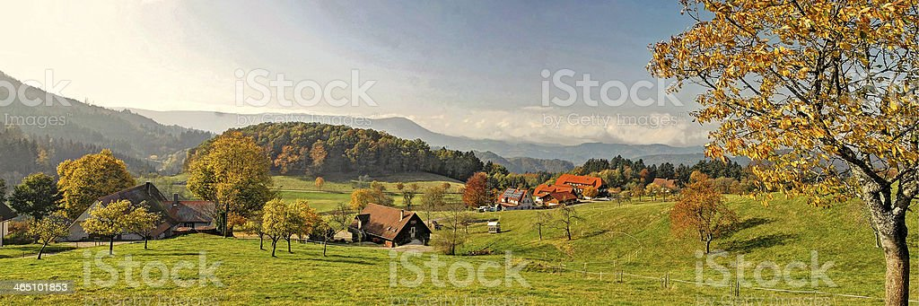 Autumn in the Black Forest, Germany stock photo