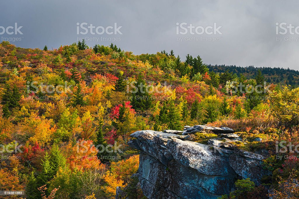 Autumn In The Blue Ridge stock photo