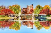 istock Autumn in the Boston Public Garden 1331191949