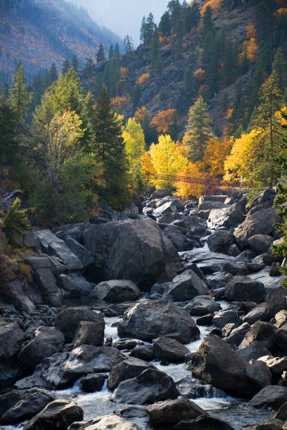 autumn in the cascades - leavenworth washington stock photos and pictures