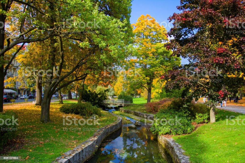 Autumn in the central stock photo