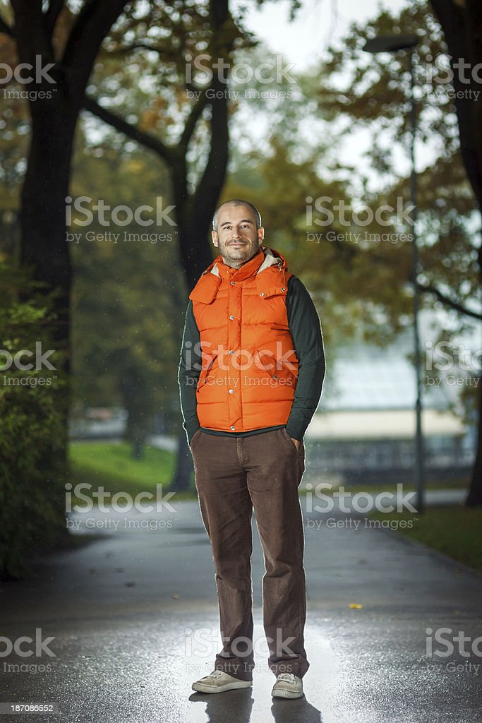 Autumn in the city park royalty-free stock photo