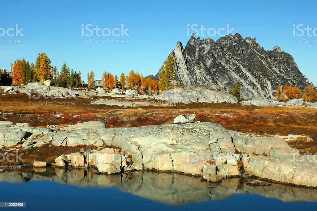 Autumn in the Enchantments stock photo