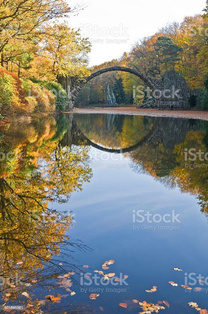 Autumn in the Kromlauer Park stock photo
