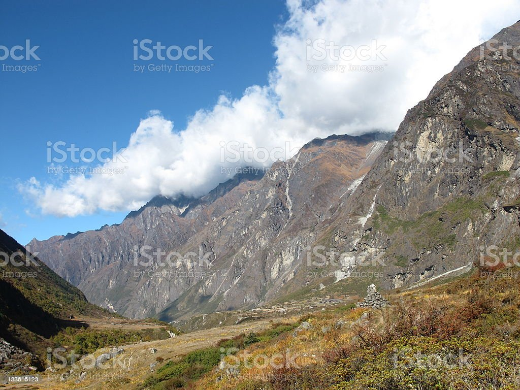 Autumn in the Langtang-valley stock photo