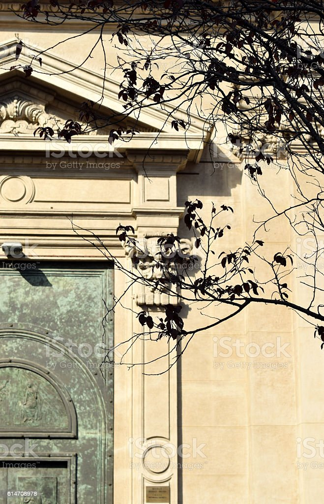 Autumn in the Milan. Architectural details stock photo