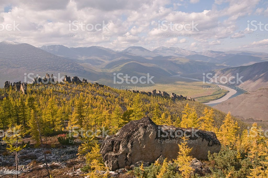 Autumn in the mountains. royalty-free stock photo
