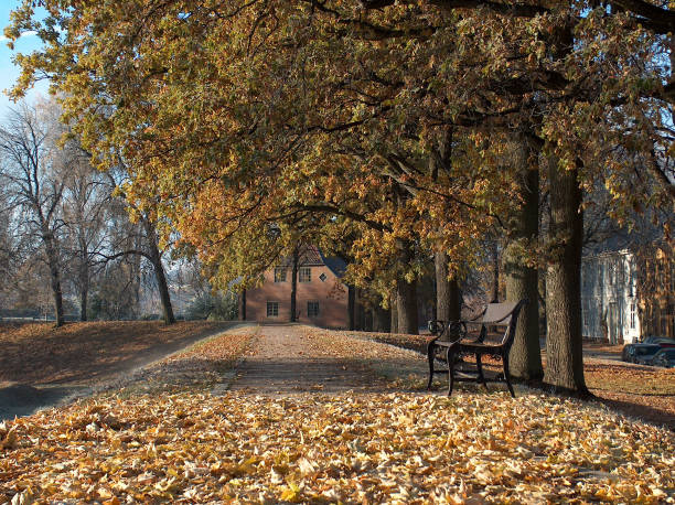 Autumn in the old city of Fredrikstad Norway – Foto