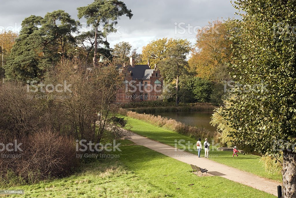 Autumn in the park. royalty-free stock photo