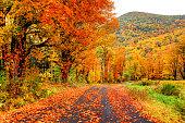 秋のパイオニアバレー地域のマサチューセッツ州