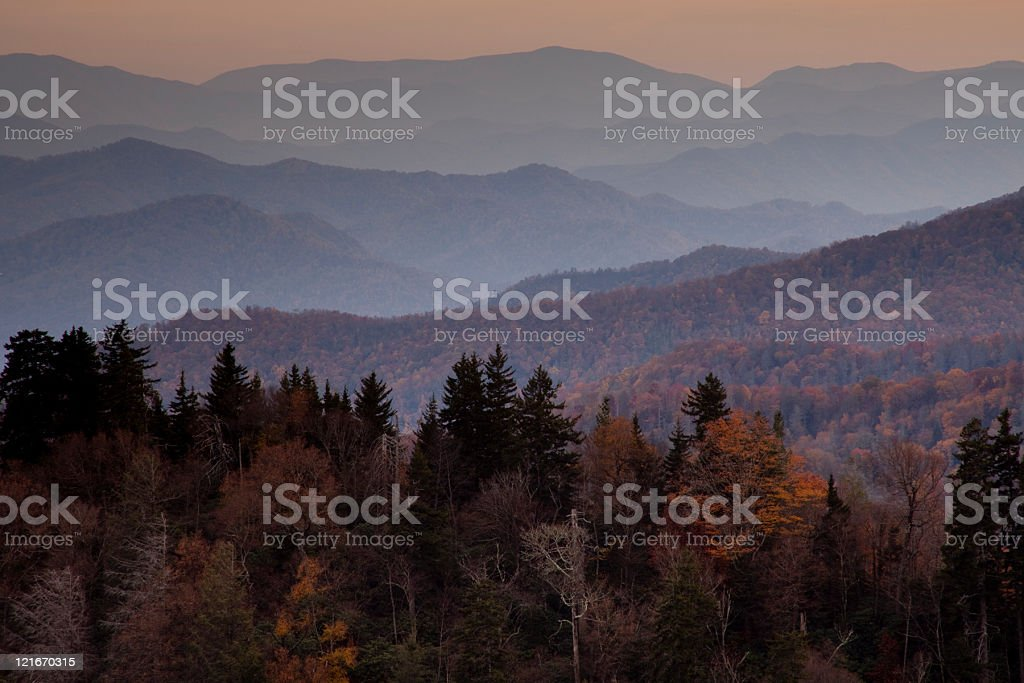 Autumn in the Smokies royalty-free stock photo