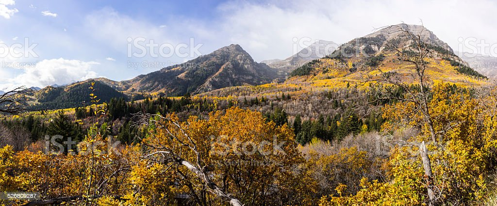Autumn in the Wasatch Mountains along the Alpine Loop (Utah) stock photo