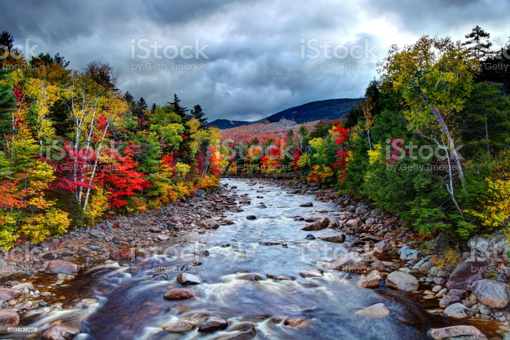 Autumn in the White Mountains National Forest New Hampshire stock photo