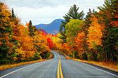 秋は、ニューハンプシャー州のホワイトマウンテン