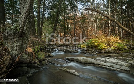 Autumn, Waterfall, Vermont, Stream - Body of Water, USA