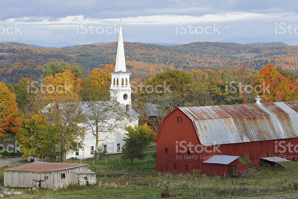 Autumn in Vermont royalty-free stock photo