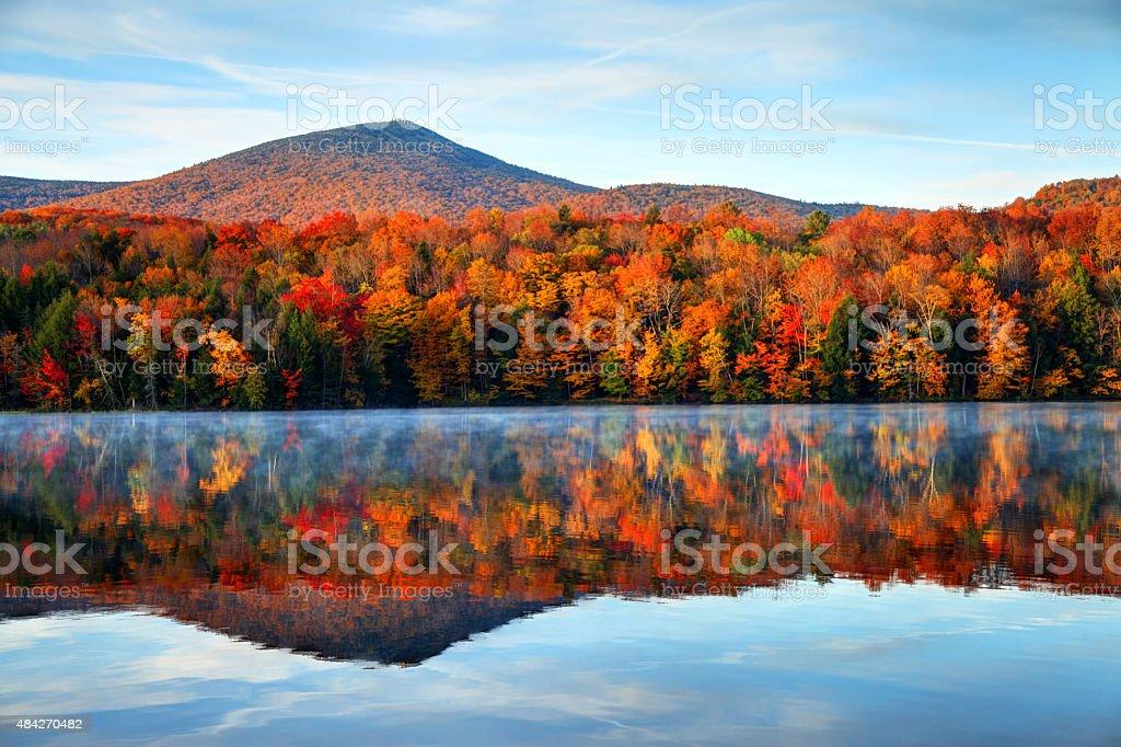 Outono em Vermont - foto de acervo