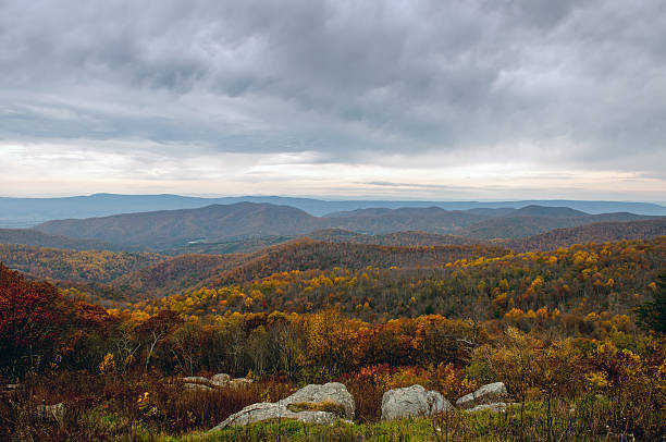 Autumn in Virginia A panorama of the Blue Ridge mountains in October. charlottesville stock pictures, royalty-free photos & images
