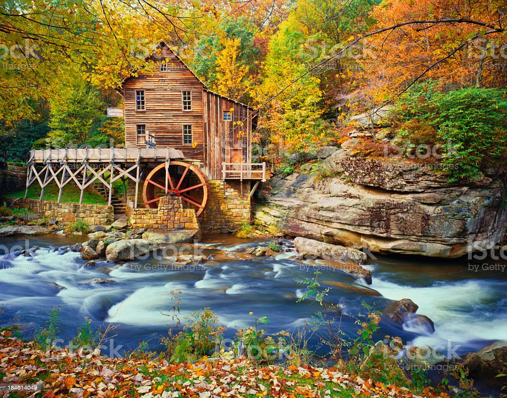 Autumn in West Virginia stock photo