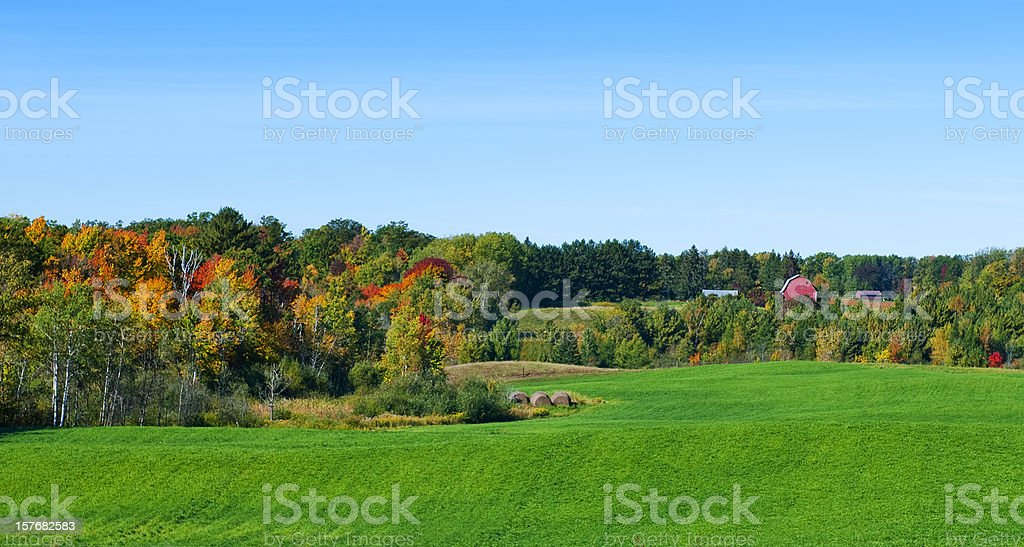 Autumn in Wisconsin stock photo