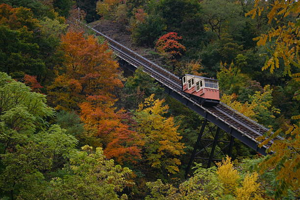 Autumn Incline Monongahela Incline In Autumn.  Located in Pittsburgh, PA. monongahela river stock pictures, royalty-free photos & images