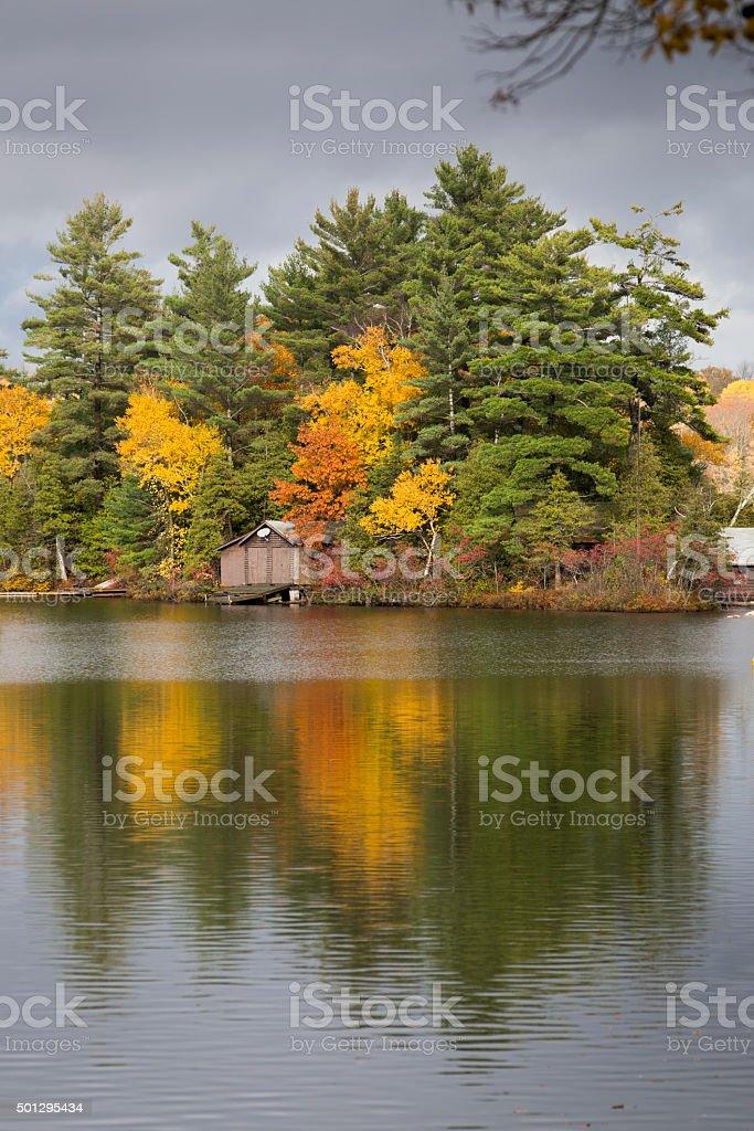 Autumn Island stock photo