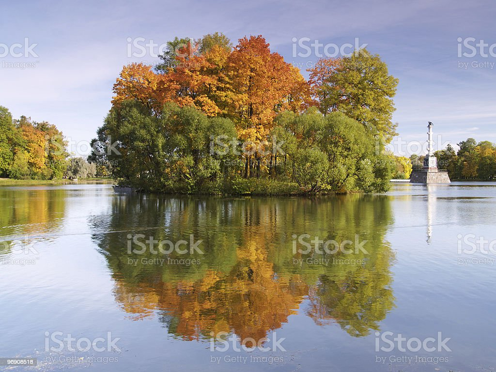 Autumn island royalty-free stock photo