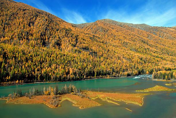 Autumn Kanas River stock photo