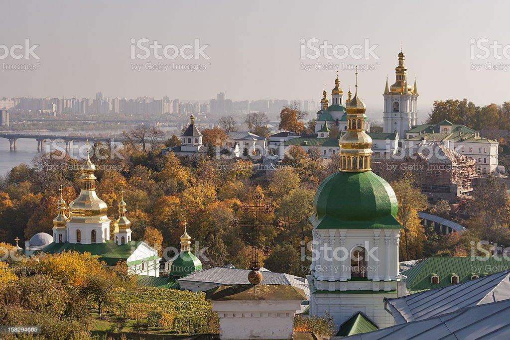 Autumn Kiev cityscape stock photo