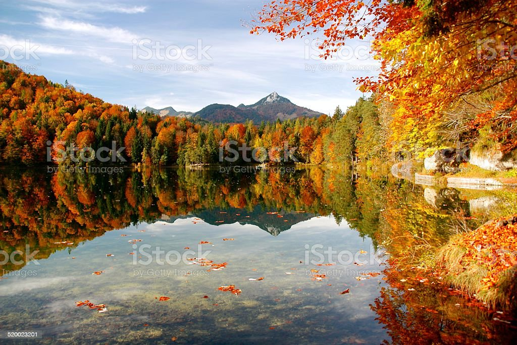 Autumn Lake stock photo