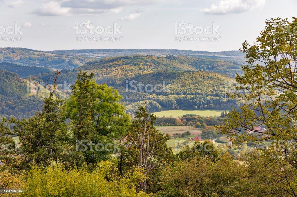 Stiavnica, 슬로바키아 반스카 주변가 풍경입니다. - 로열티 프리 0명 스톡 사진