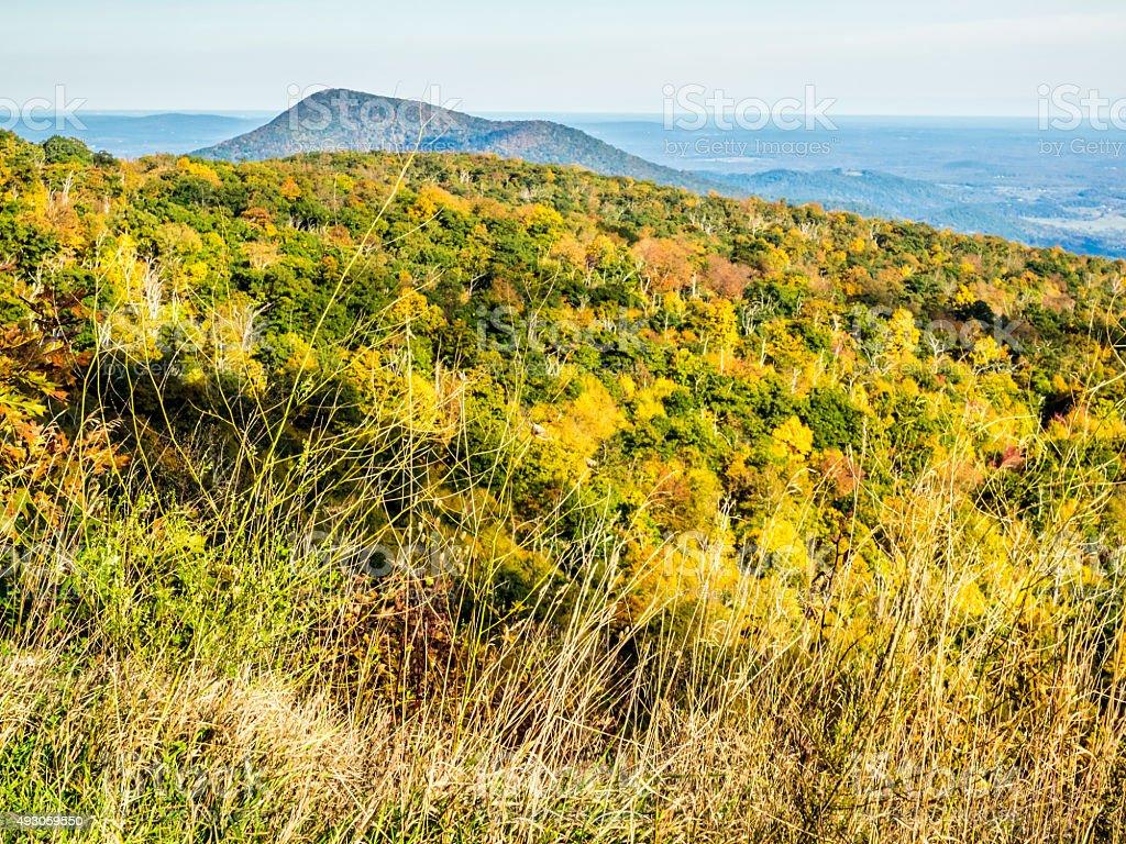 Autumn Landscape from Skyline Drive in Shenandoah National Park stock photo