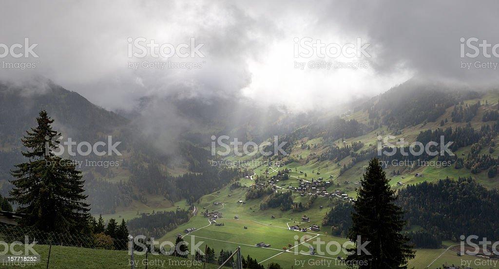 autumn landscape in Bernese Oberland Switzerland stock photo
