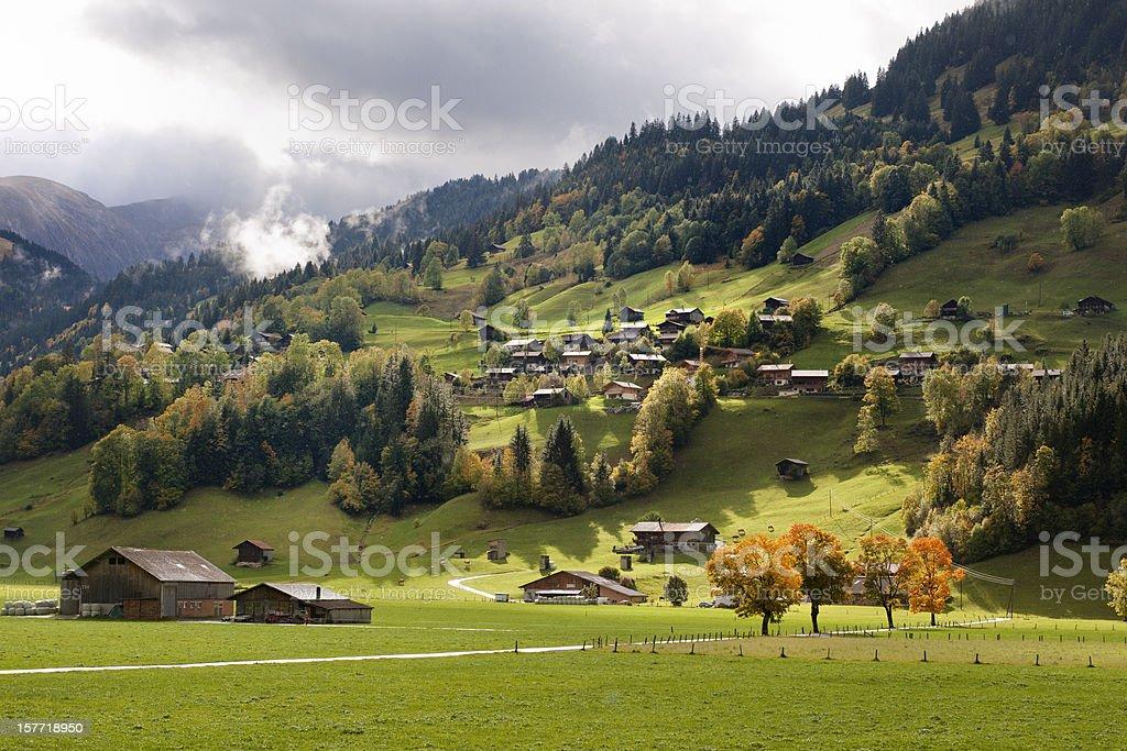 autumn landscape in Bernese Oberland Switzerland royalty-free stock photo