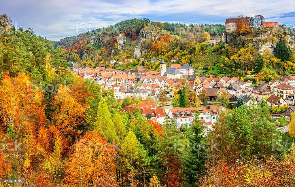 Herbst Landschaft in Pottenstein, die Fränkische Schweiz (die Fränkische Schweiz)-Deutschland – Foto