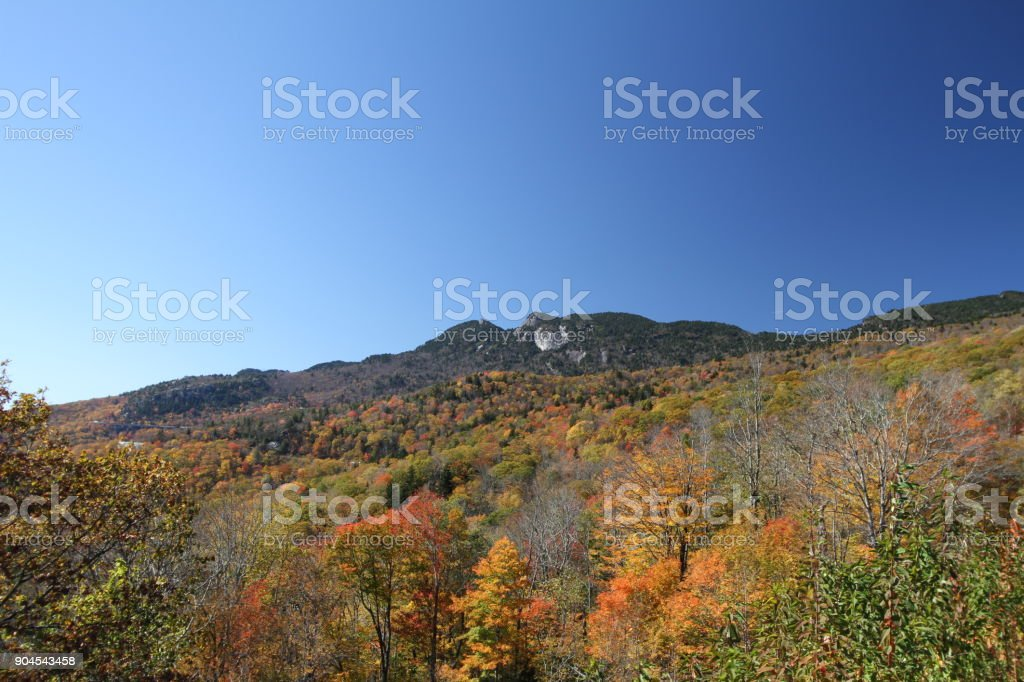 Autumn landscape in the Blue Ridge Mountains stock photo