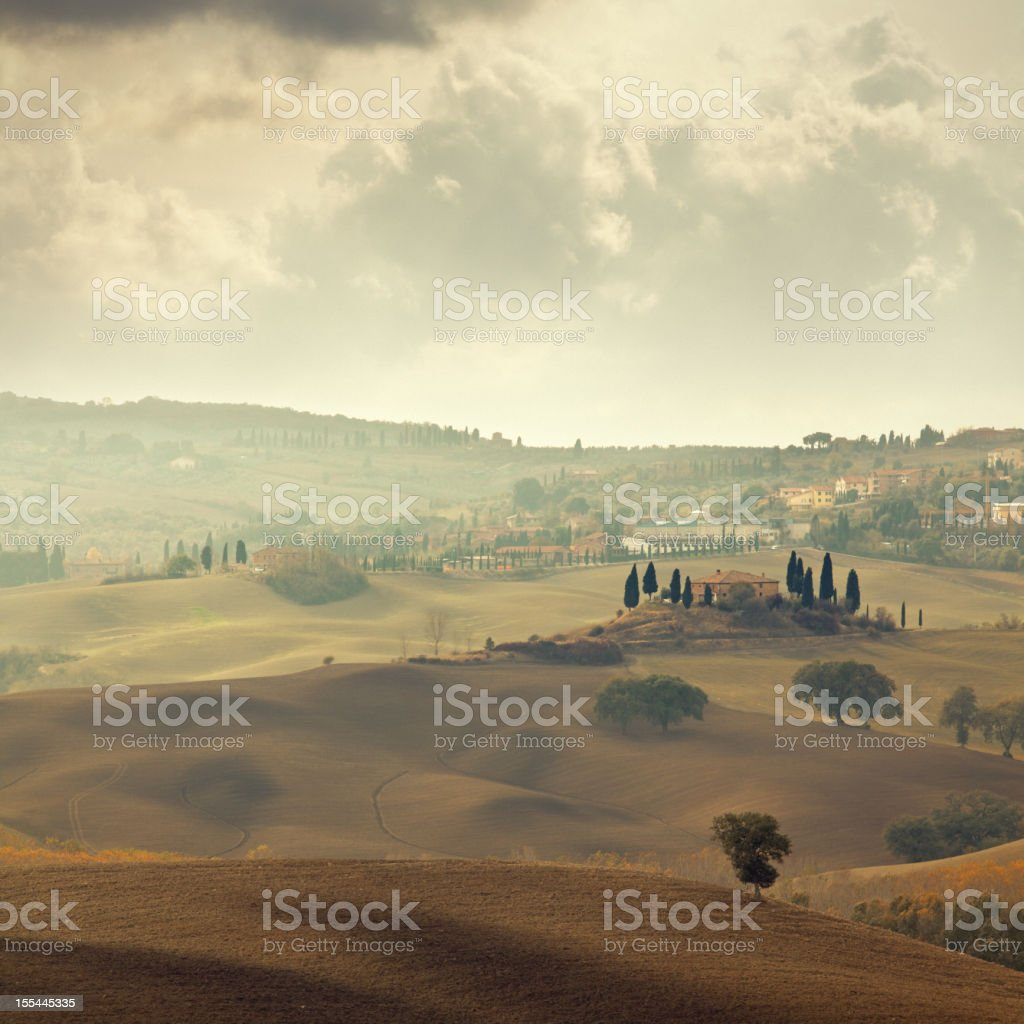 Autumn landscape in Tuscany royalty-free stock photo