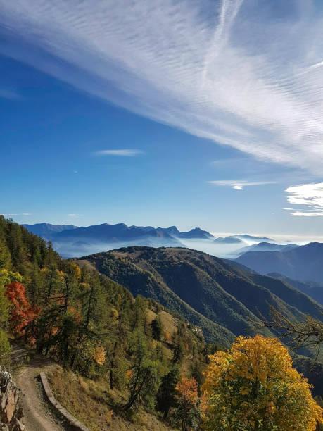 Autumn Landscape, Mercatour National Park, France stock photo