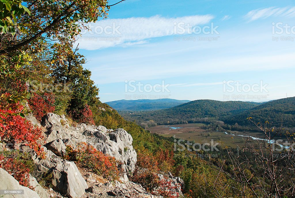 Autumn Landscape Near Doberdo stock photo