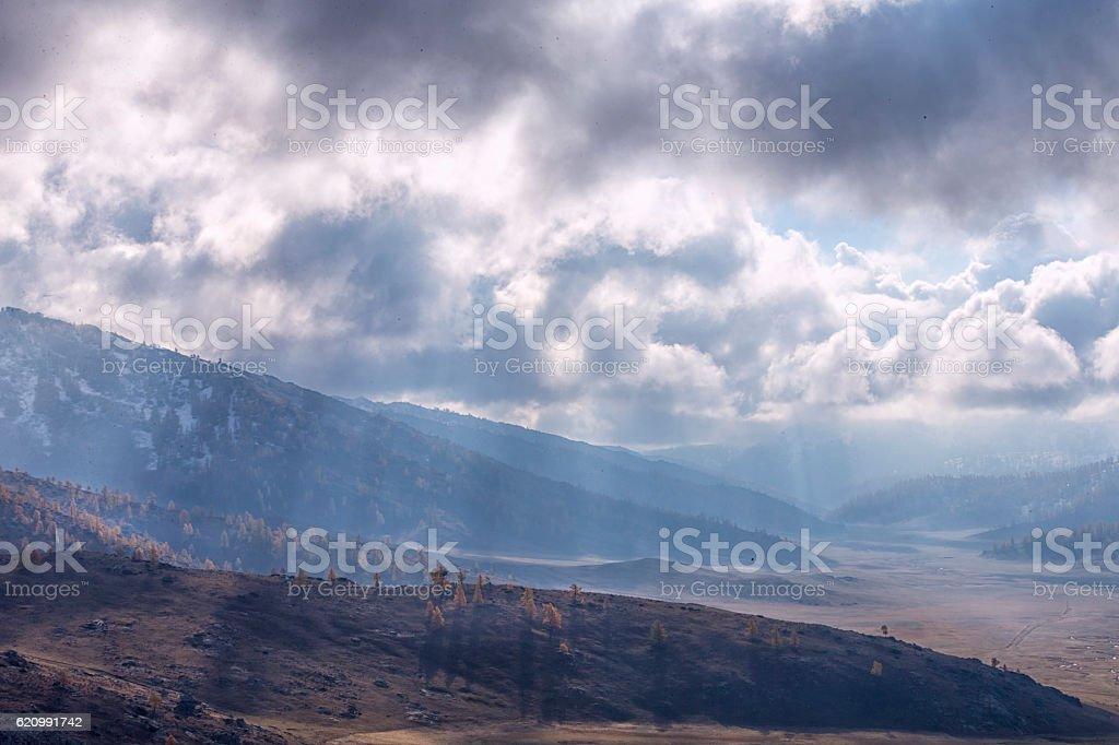 Autumn Landscape near Kanas Lake, Xinjiang, China foto royalty-free
