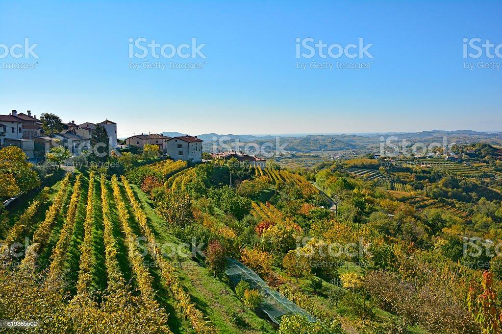 Autumn Landscape Near Smartno stock photo