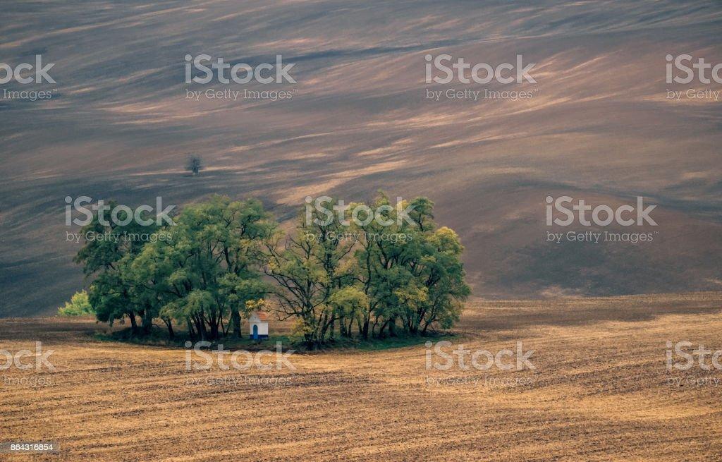 Autumn landscape of South Moravia Czech republic stock photo