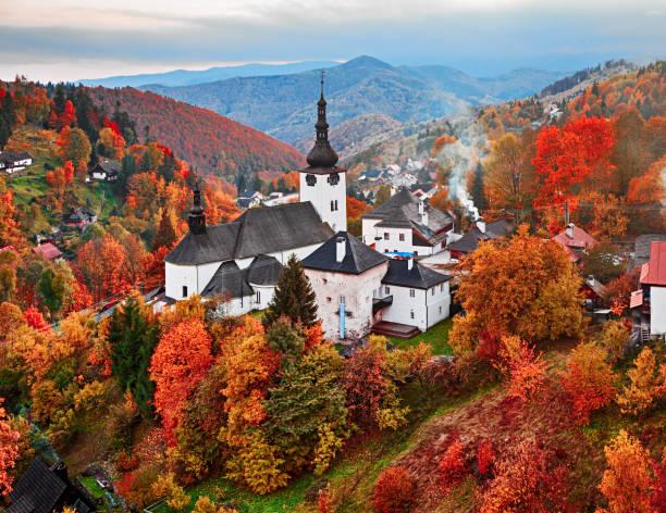 Herbstlandschaft Spania Dolina, Slowakei – Foto