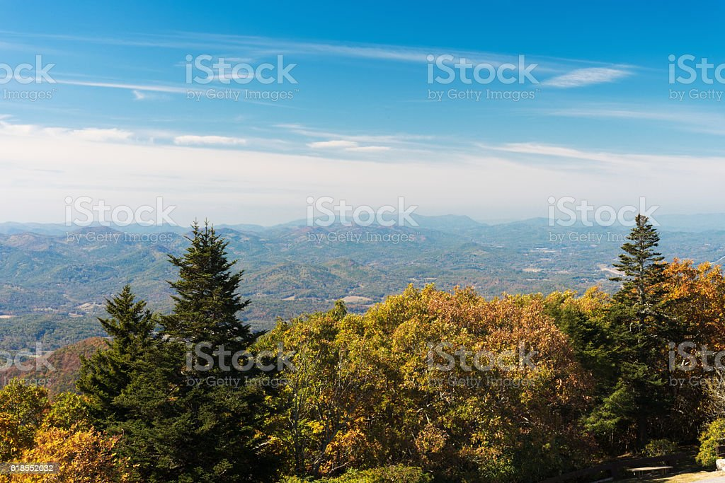 Autumn Landscape Viewed From Brasstown Bald Mountain stock photo