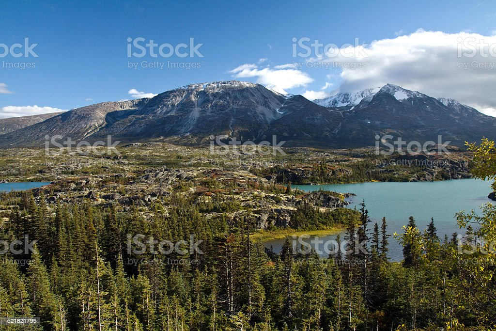 Autumn landscapes, northwestern British Columbia, Canada stock photo